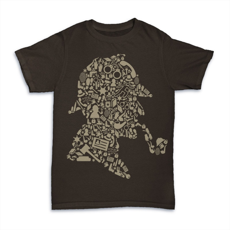 Sherlock Holmes t shirt designs for print on demand
