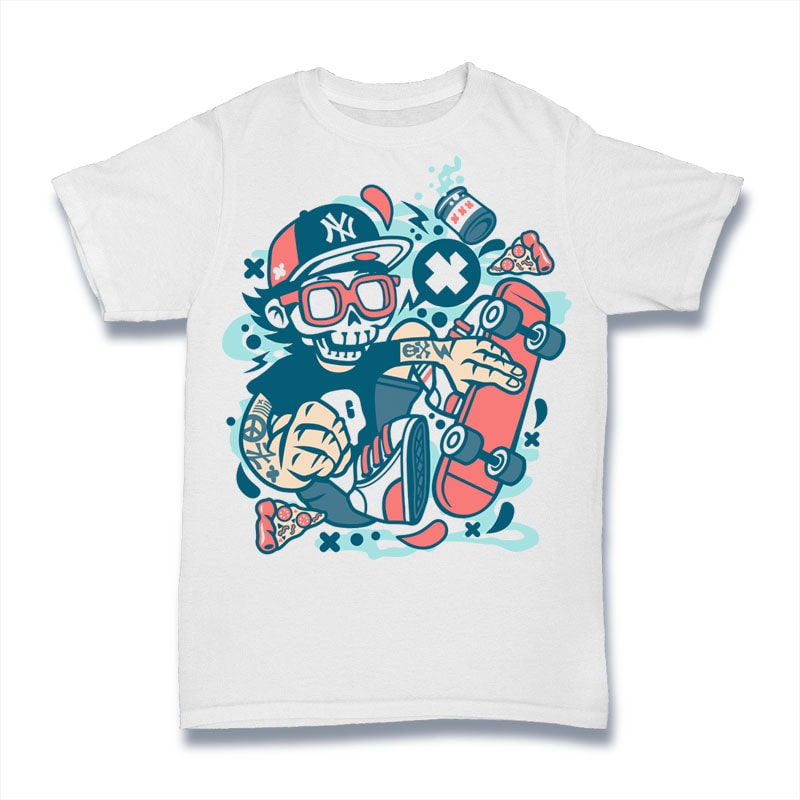 Skateboard Skull tshirt factory