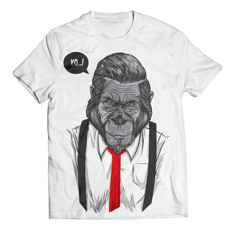 Slick Ape – Gorilla Business vector t shirt design