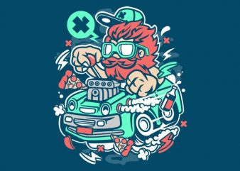 Smoking Hotrod vector shirt design