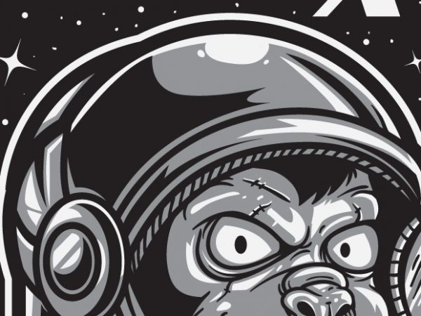 Mission X – Space Ape commercial use t-shirt design