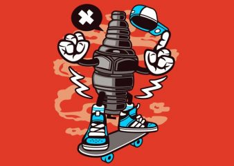 Sparkplug print ready vector t shirt design