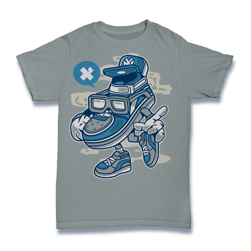 Street Shoe Bastard t shirt designs for printify