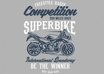 Superbike Competition t shirt template vector