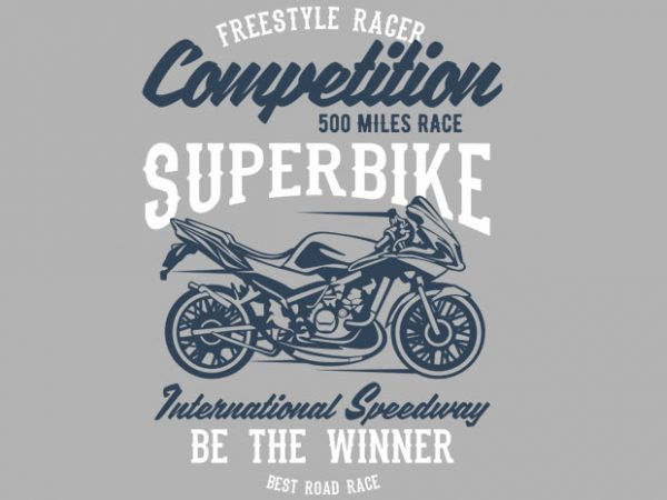 Superbike Competition tshirt design for sale