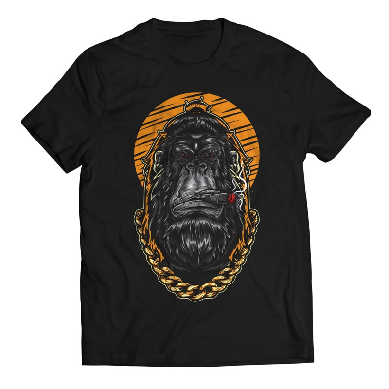 Swag – Gorilla Hipster t shirt designs for printify