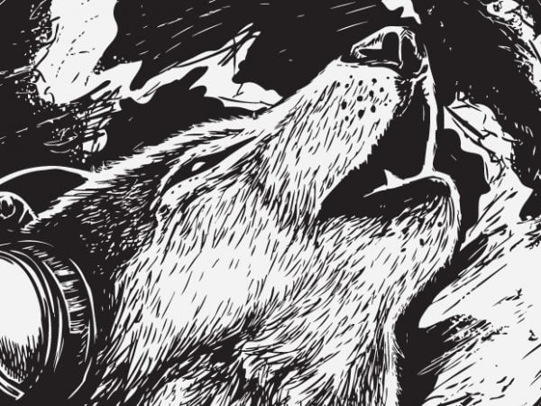 The Night Song – Wolf t shirt designs for sale