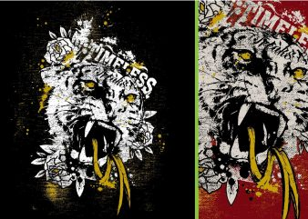 Timeless Freaks Tiger Tshirt Design
