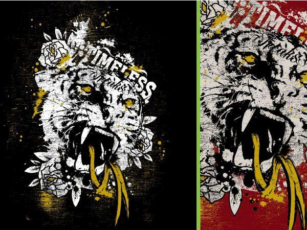 Timeless Freaks Tiger Tshirt Design 1 600x450 - Timeless Freaks Tiger Tshirt Design buy t shirt design