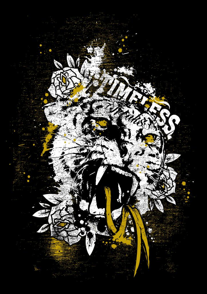 Timeless Freaks Tiger Tshirt Design tshirt design for sale