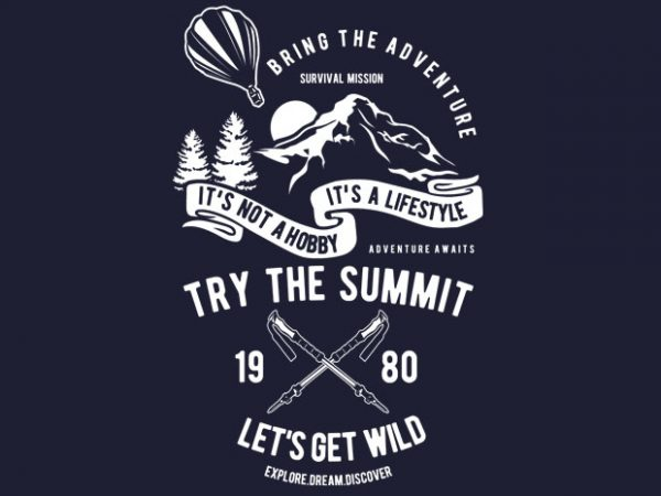 Try The Summit BTD 600x450 - Try The Summit buy t shirt design