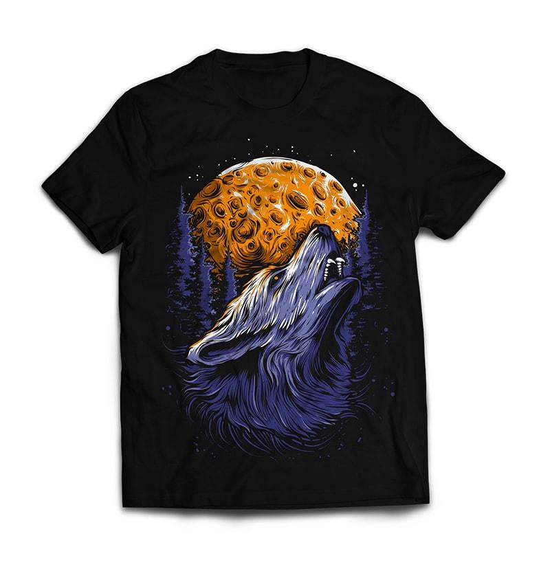 WOLF tshirt design for merch by amazon