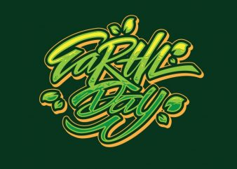 EARTHDAY1 vector t shirt design for download