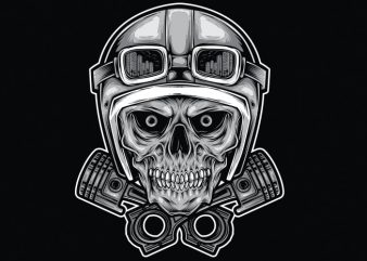 RIDER SKULL print ready vector t shirt design