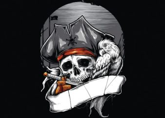 PIRATE buy t shirt design for commercial use