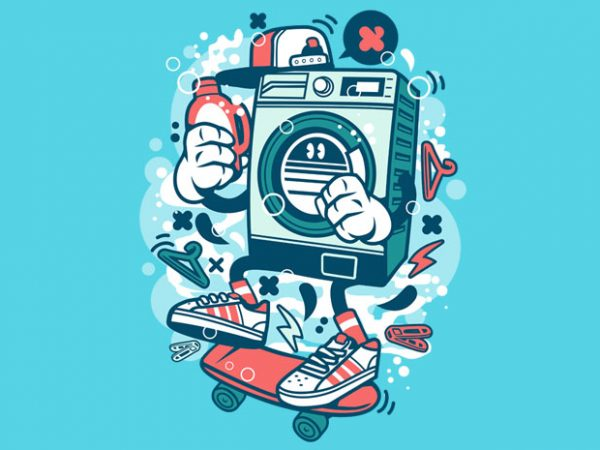 Washing Machine vector shirt design