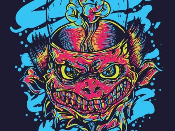 Alien Monster t shirt vector
