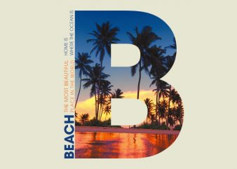 B PALM BEACH t shirt template