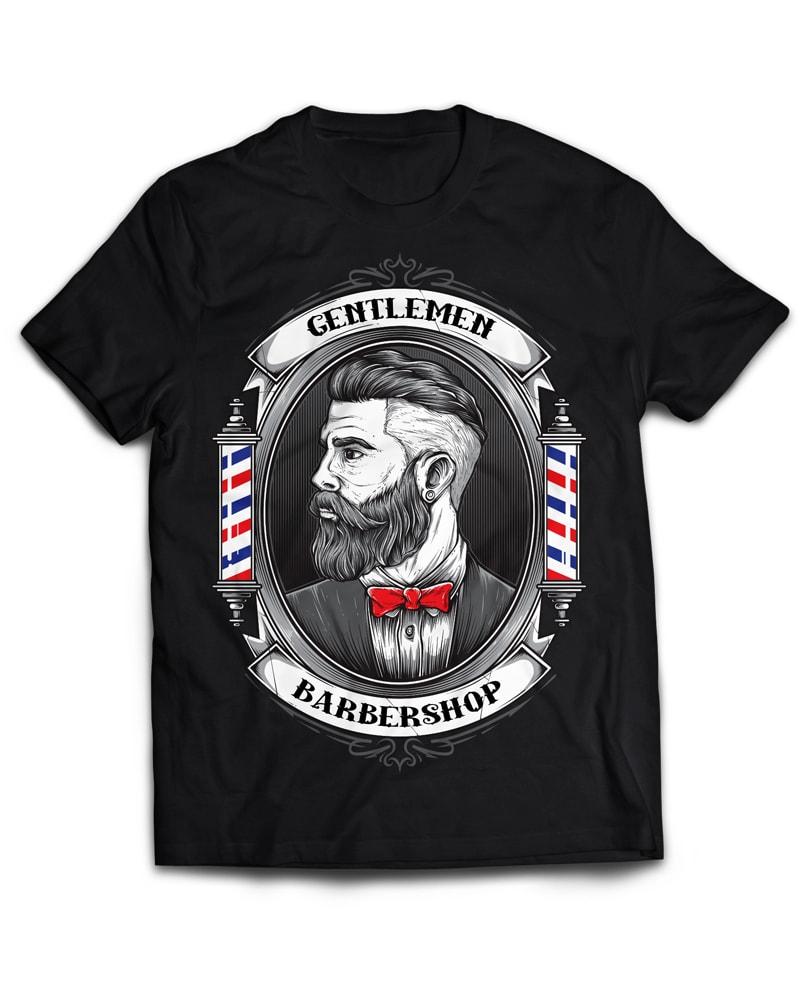 BARBERSHOP t shirt design graphic