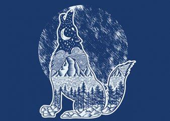 Dark Night t shirt vector illustration