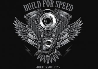 Build For Speed commercial use t-shirt design