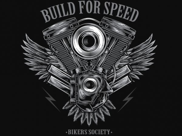 Build For Speed t shirt template