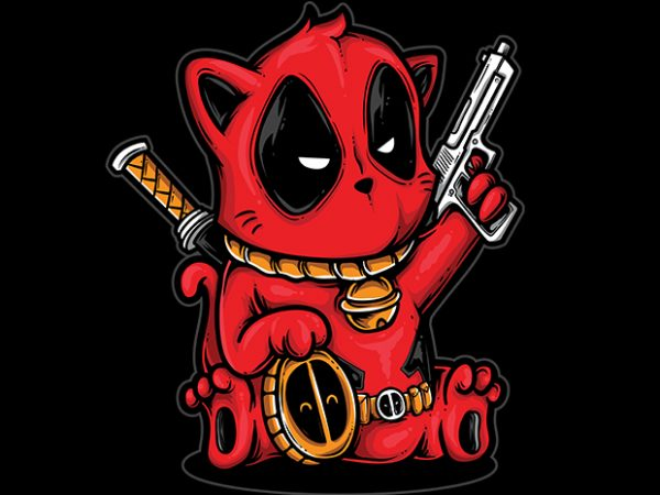 Kittypool t shirt vector art