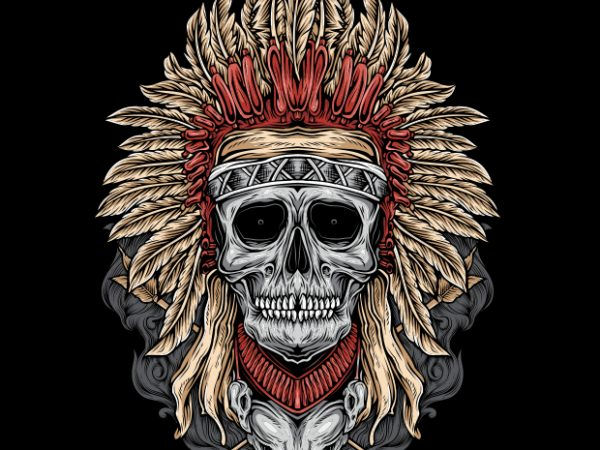 buy 6 600x450 - Native Skull buy t shirt design
