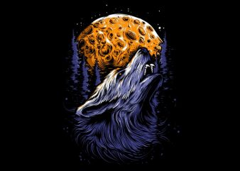 WOLF vector t shirt design for download