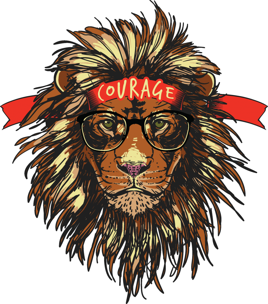 Courage tshirt design for merch by amazon