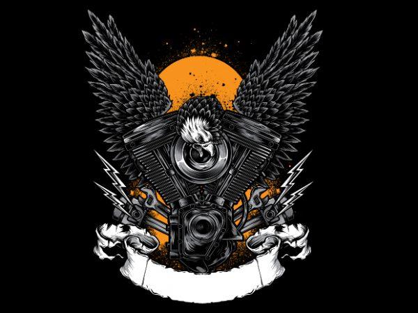 EAGLE vector t-shirt design template
