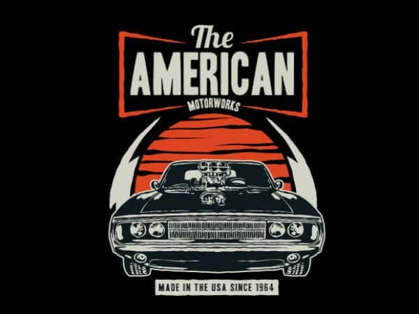 American Muscle Car t shirt vector