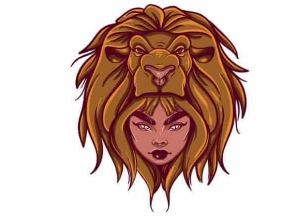 Leo t shirt vector graphic