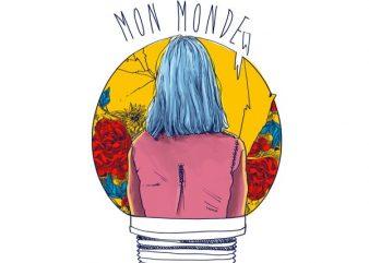 Mon monde buy t shirt design artwork