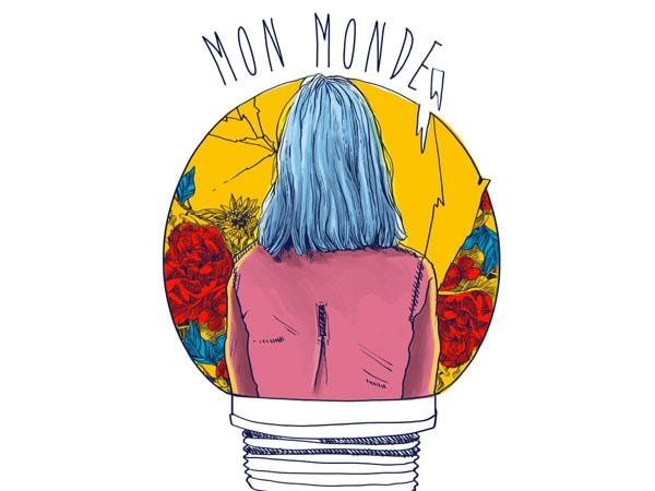 Mon monde t shirt designs for sale