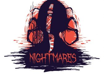 Nightmares T shirt vector artwork