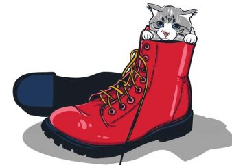 Puss in boots graphic t-shirt design