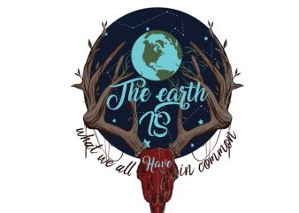 We have earth graphic t-shirt design