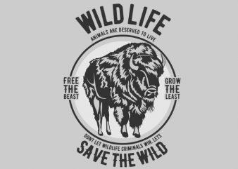 Wild Life t-shirt design