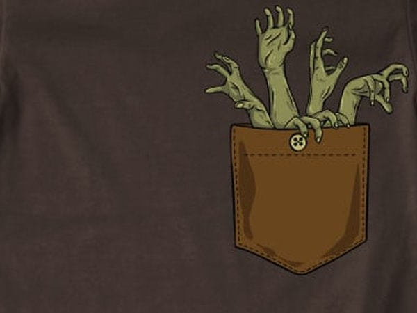 Zombie hands pocket t shirt design png