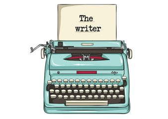 The writer vector t-shirt design for commercial use
