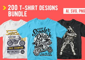 200 T shirt Designs Bundle