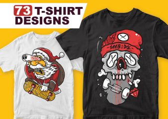 73 T-shirt Designs Bundle