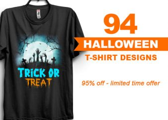SPECIAL HALLOWEEN BUNDLE – 94 DESIGNS – 95% OFF – LIMITED TIME ONLY!
