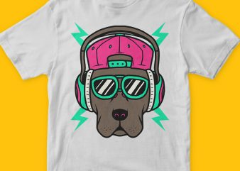 Cool Dog T-shirt Design