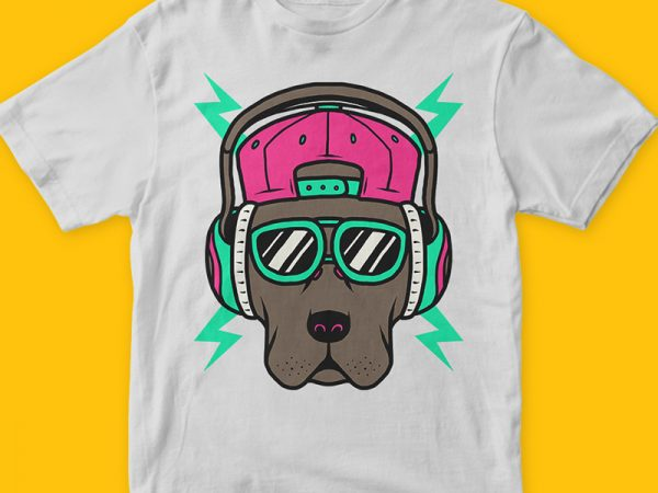 Cool Dog T-shirt Design