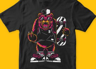 Cool Bear T-shirt Png