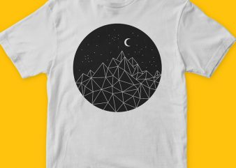 Dark night T-shirt design in vector format