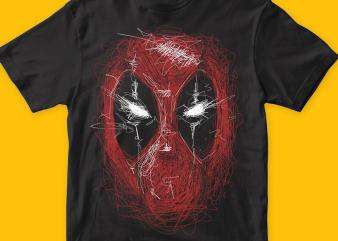 Deadpooline t shirt vector illustration