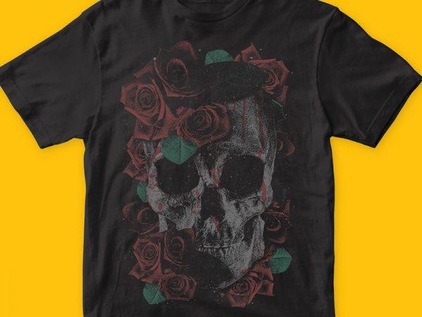 Death Skull graphic t-shirt design